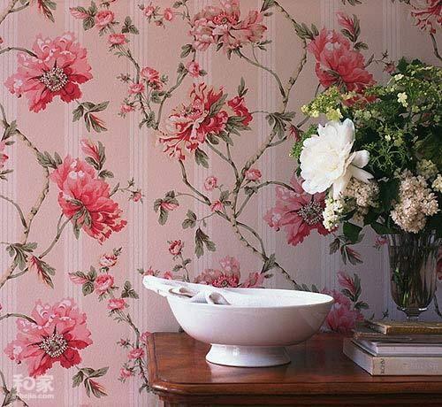 粉色康乃馨壁纸装饰背景墙,温馨浪漫